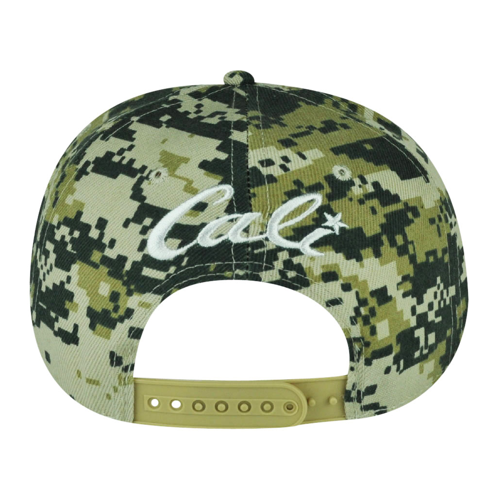 0c4ef26bf08 California Republic Cali Camo Digital Camouflage Snapback Flat Bill Hat Cap  Green