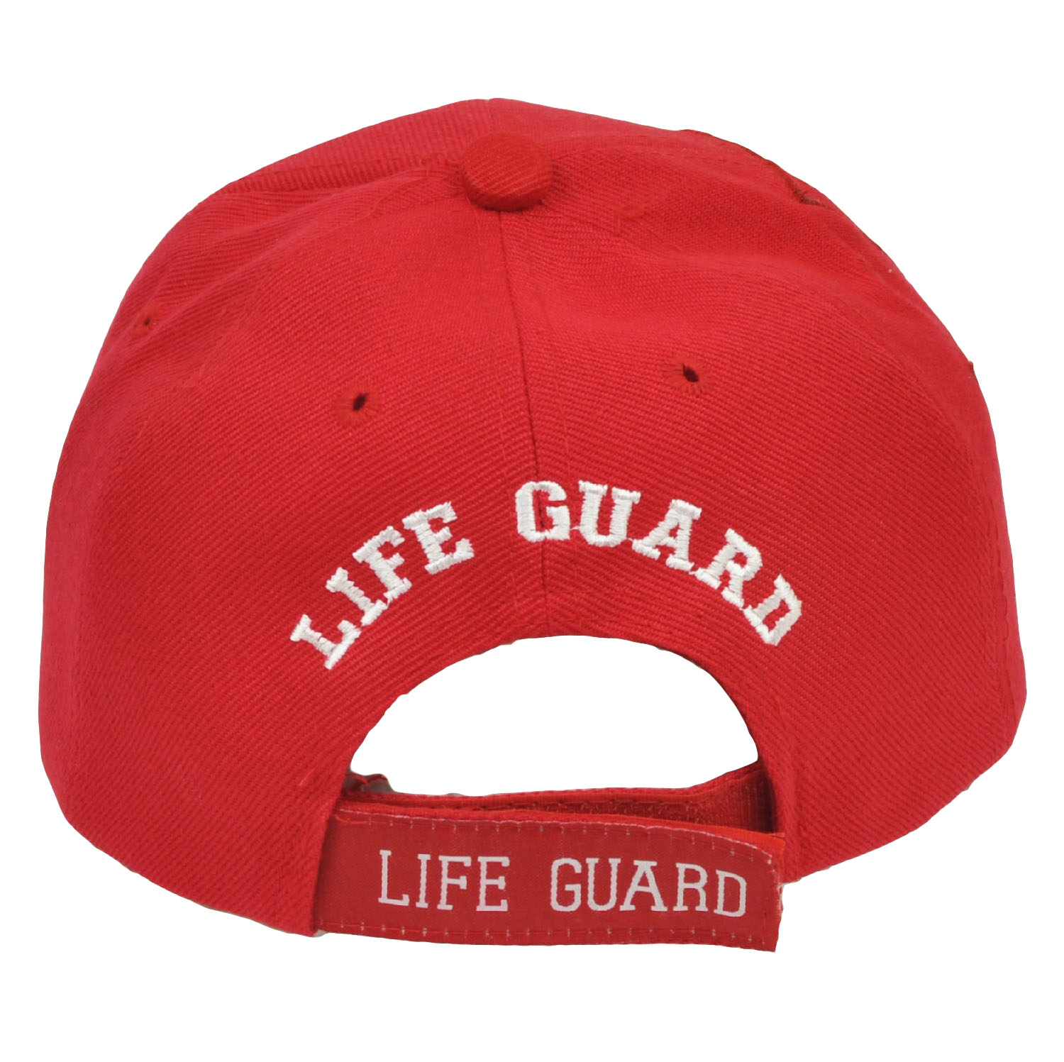 Details about Lifeguard Life Guard Beach Patrol Red Adjustable Mens One  Size White Cap Hat 1cdb0ed05