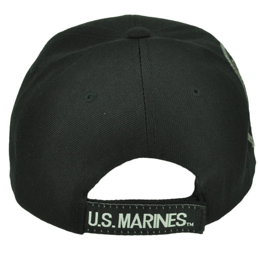 U.S United States Marines Corps Bulldog Black Hat Cap I Cant Hear You  Military 3e7cd27a1b02