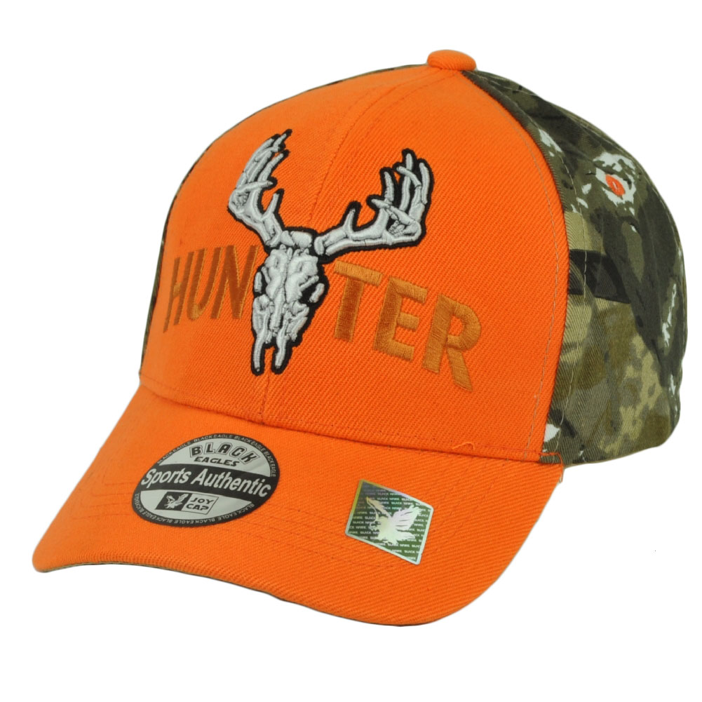 Hunter Two Tone Camouflage Orange Camo Camping Outdoor Sport Hat Cap Hunt 738154773afb
