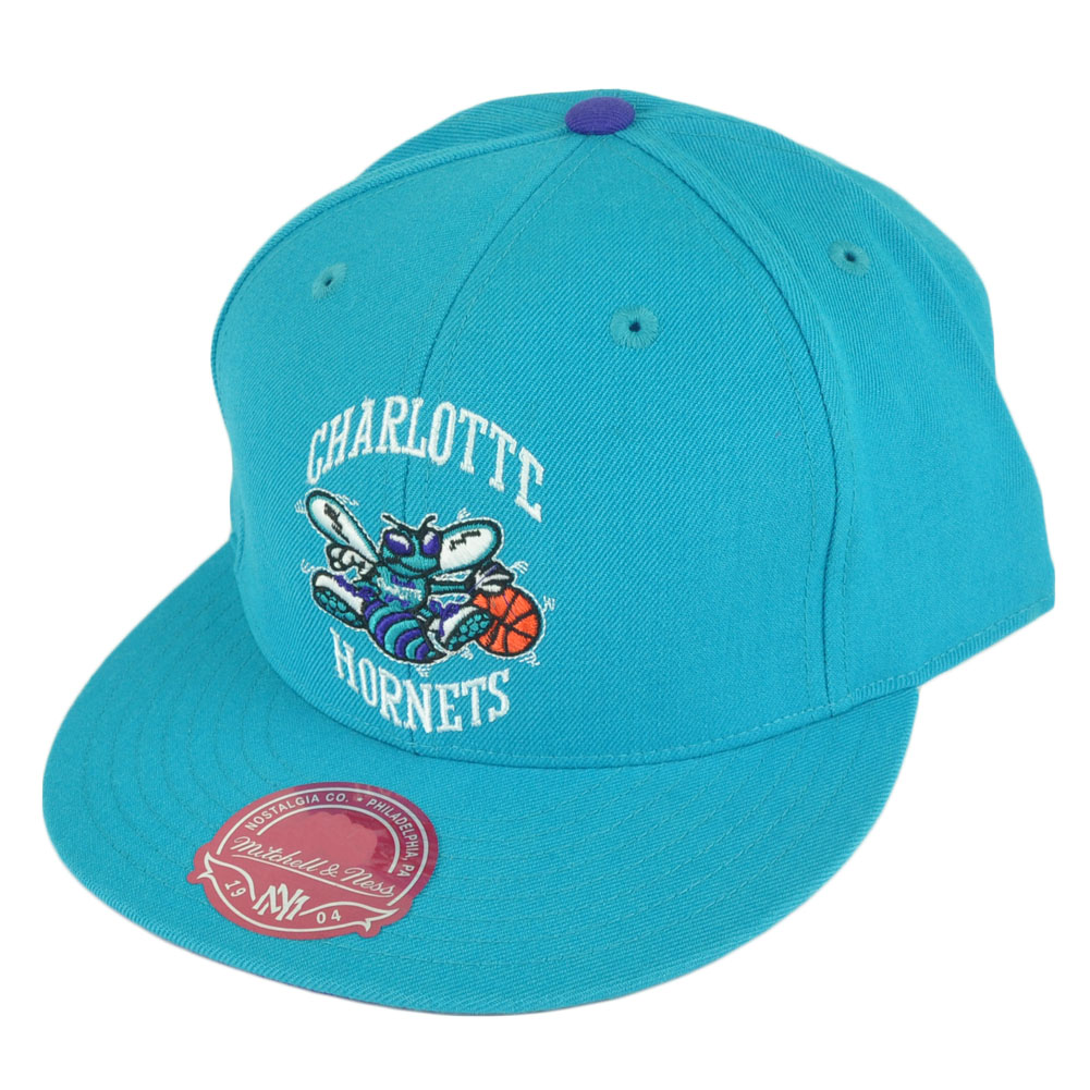 NBA Mitchell Ness TK07 Charlotte Hornets Team Second Fitted Hat Cap ... e9bdccea21b