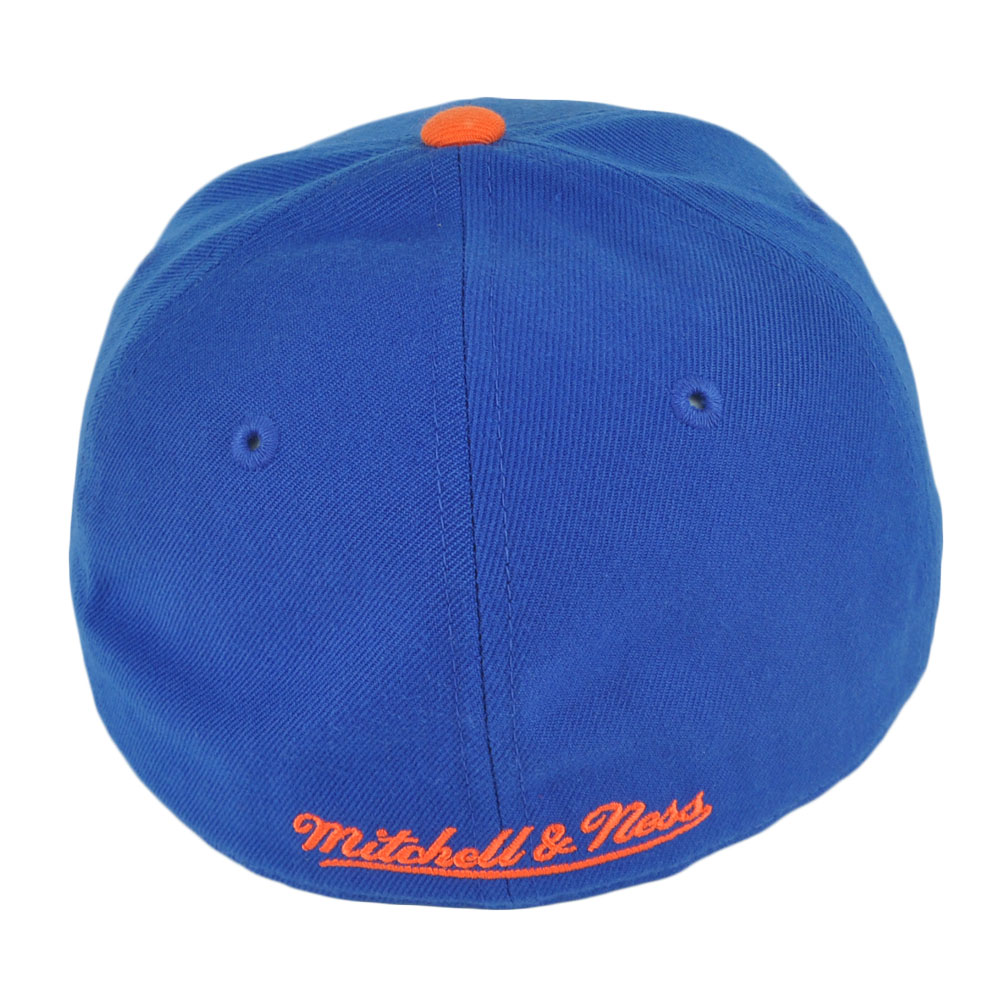 the best attitude 7d3db bcfbf NBA Mitchell Ness TK07 New York Knicks Blue Team Second Fitted Hat Cap