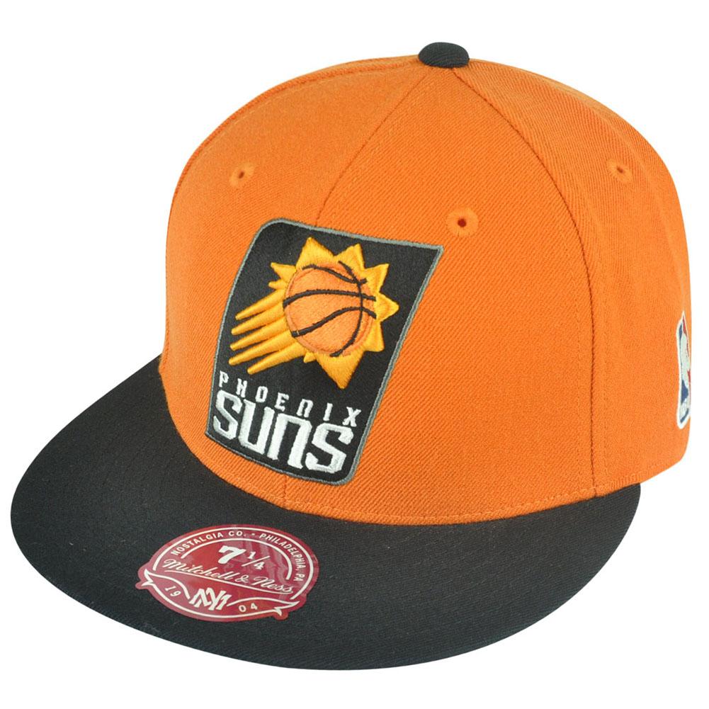 low priced d9682 e2864 ... canada nba mitchell ness phoenix suns g098 xl logo 2 tone fitted orange  hat cap b76ec