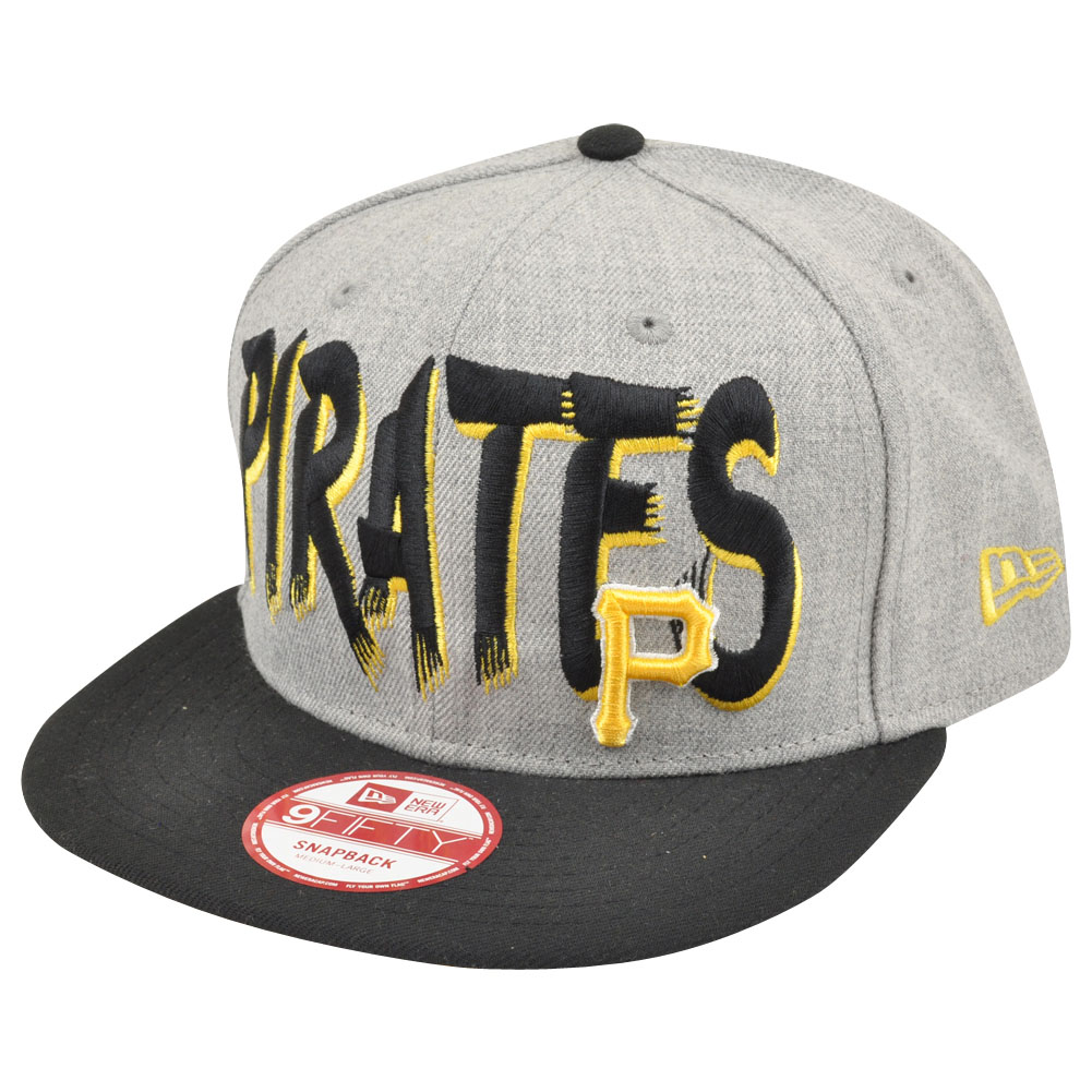 MLB New Era 9Fifty 950 Pittsburgh Pirates Team Custom Snapback Heather Hat  Cap 3deff68d12d