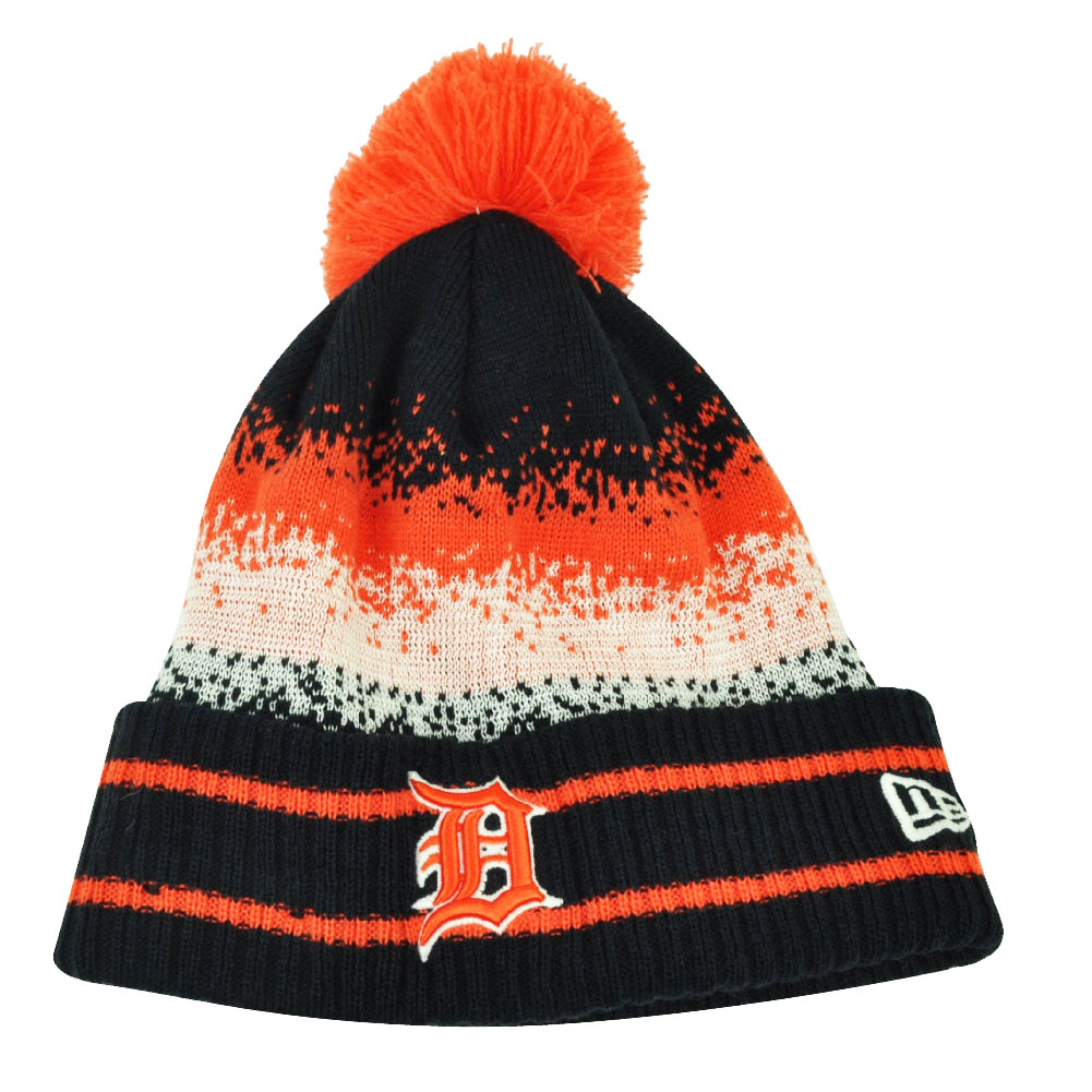 Detroit Tigers Pink Reversible Infant Knit New Born Size New Era Skully Beanie