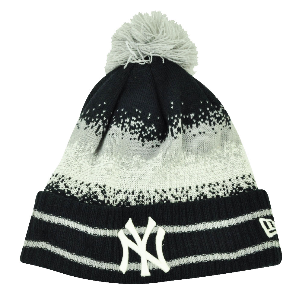 new arrival d7d53 8e596 MLB New Era Spec Blend New York Yankees Cuffed Pom Pom Knit Beanie Hat Toque