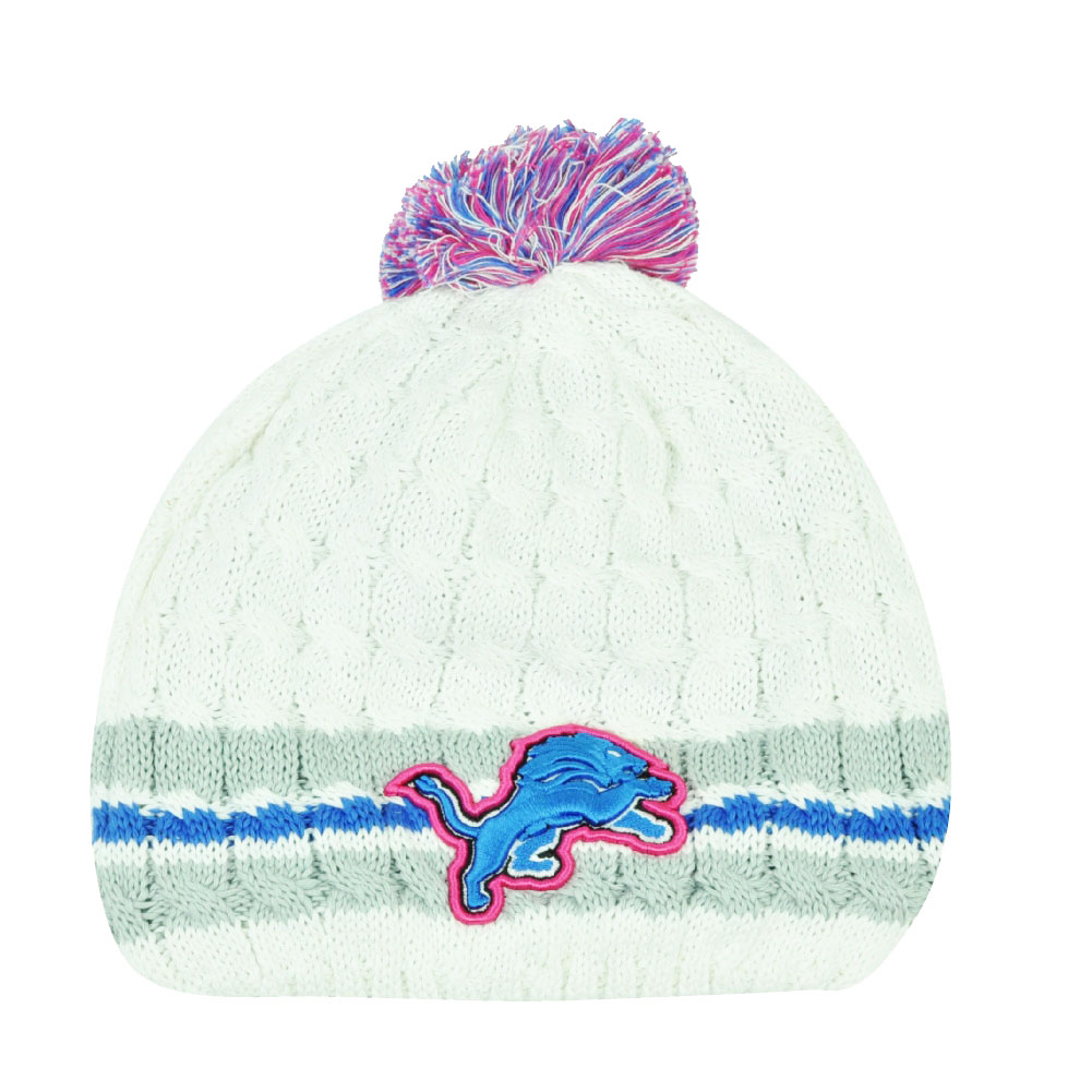 NFL New Era 14 Breast Cancer Awareness Womens Knit Beanie Detroit Lions  Toque e5bb25465