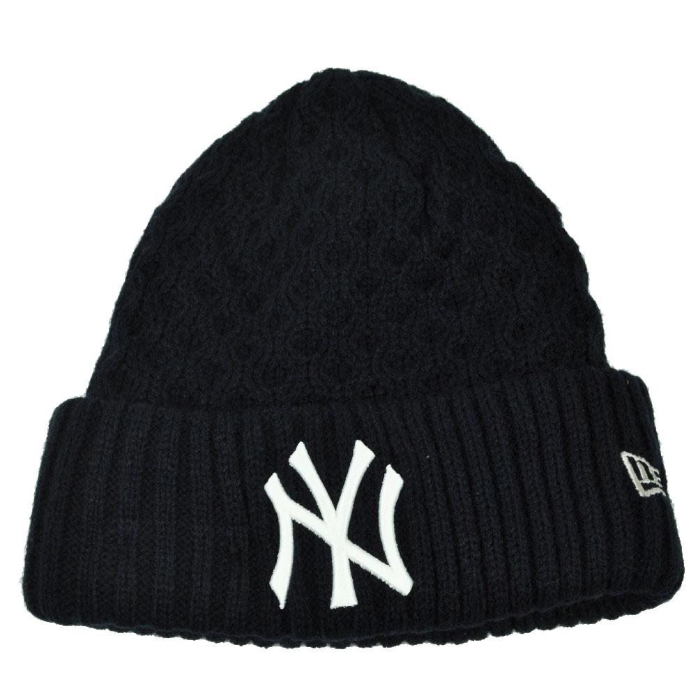 MLB New Era Cuffed Cutie New York Yankees Crochet Womens Knit Beanie Hat  Blue d5979c2de