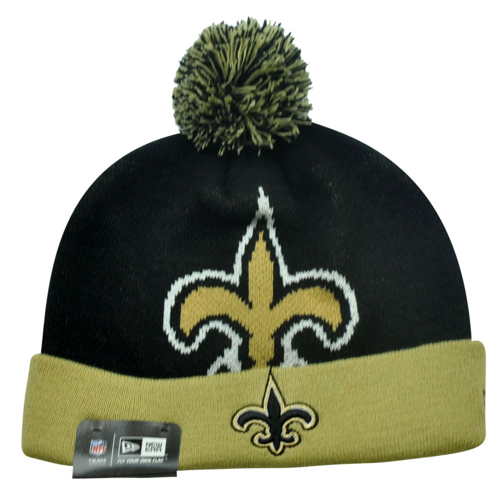 NFL New Era New Orleans Saints Woven Biggie 2 Cuffed Beanie Winter Warm Knit  Hat bf3f7759d