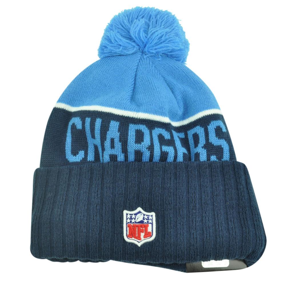 San Diego Chargers Beanie: NFL New Era San Diego Chargers Sport Knit Beanie Pom Pom