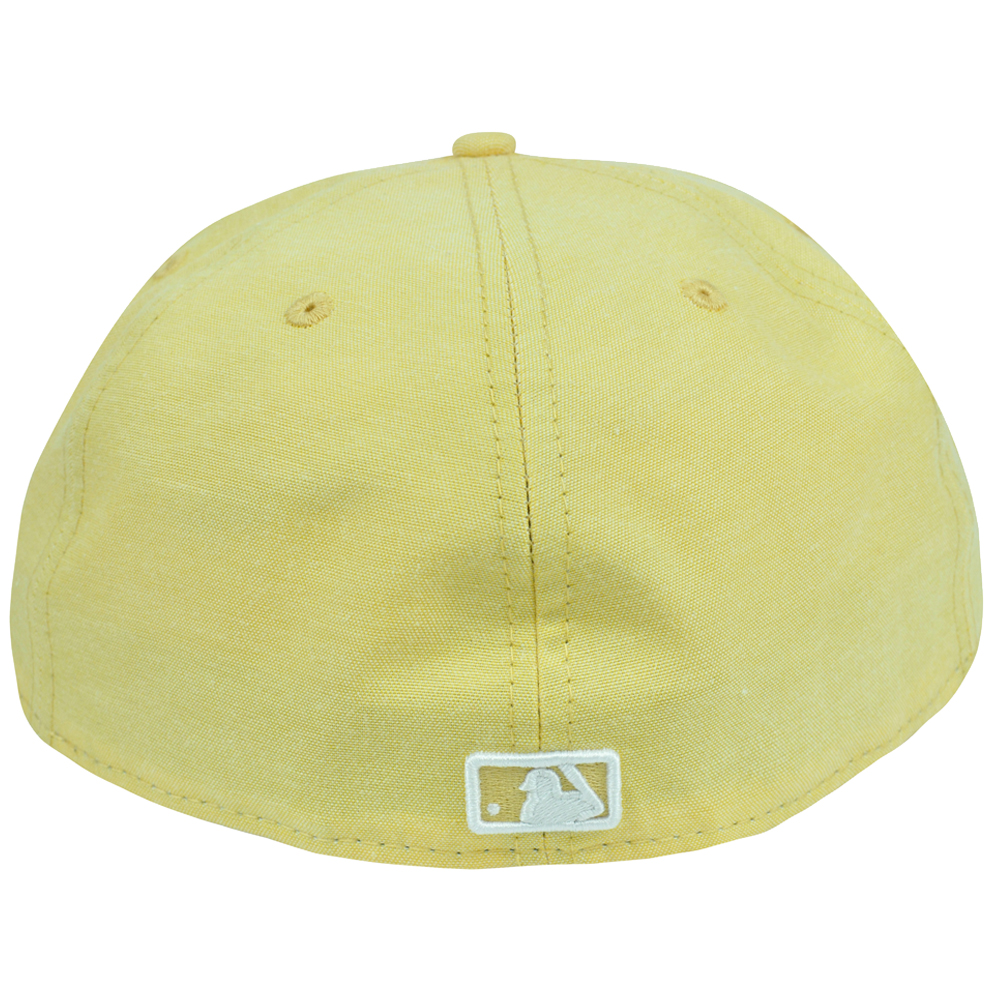 MLB New Era 59Fifty 5950 Pastalin Miami Marlins Fitted Hat Cap Pastel Yellow 48747c228e5