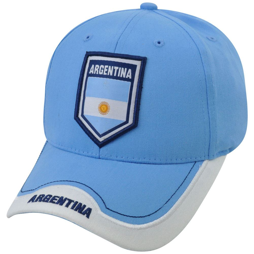 Argentina Soccer Futbol C1W12 Rhinox Group National World Cup Hat Cap Sun  Buckle 6d03e95330c