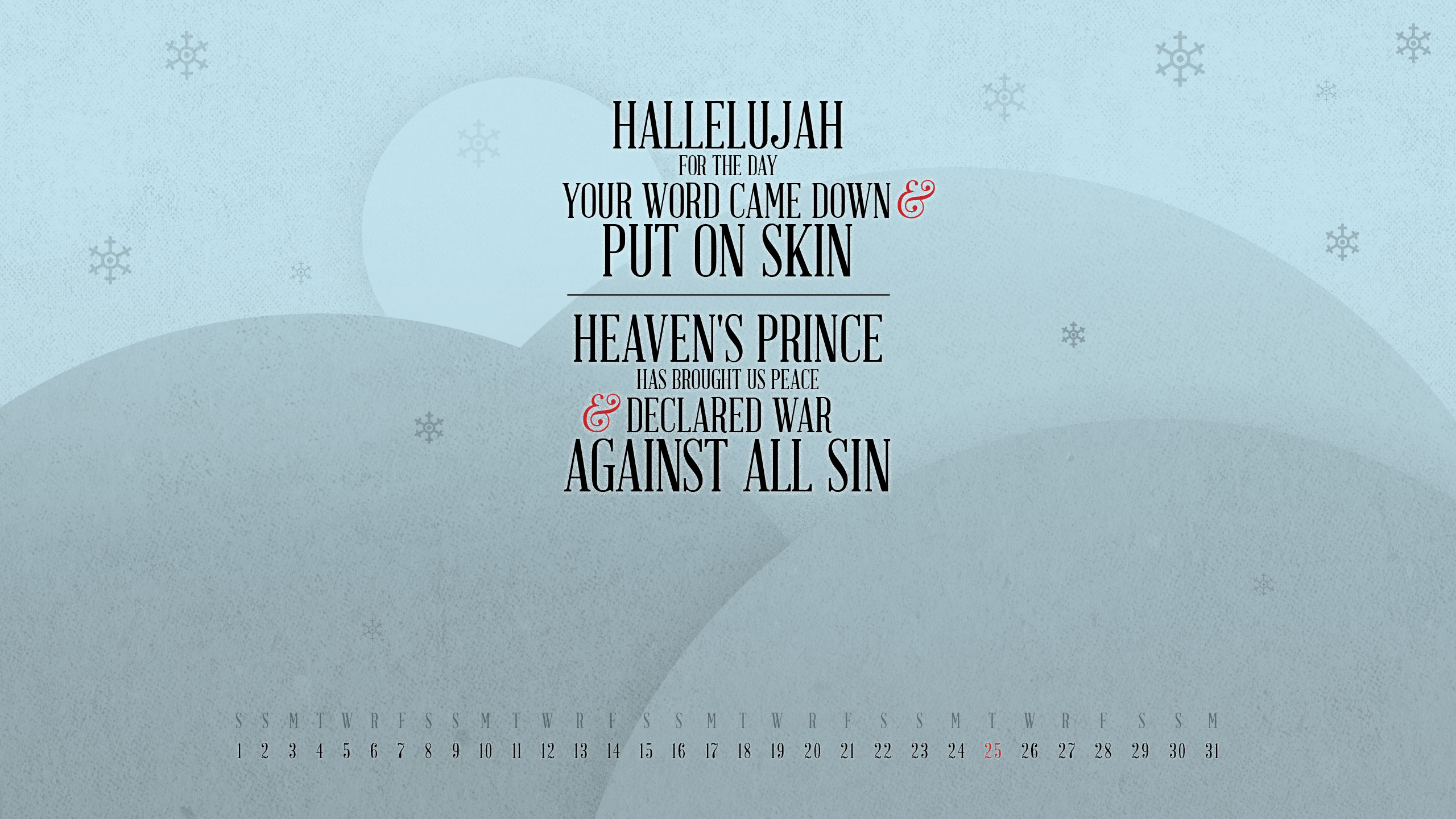 free desktop wallpaper calendars: december 2012 - tim challies
