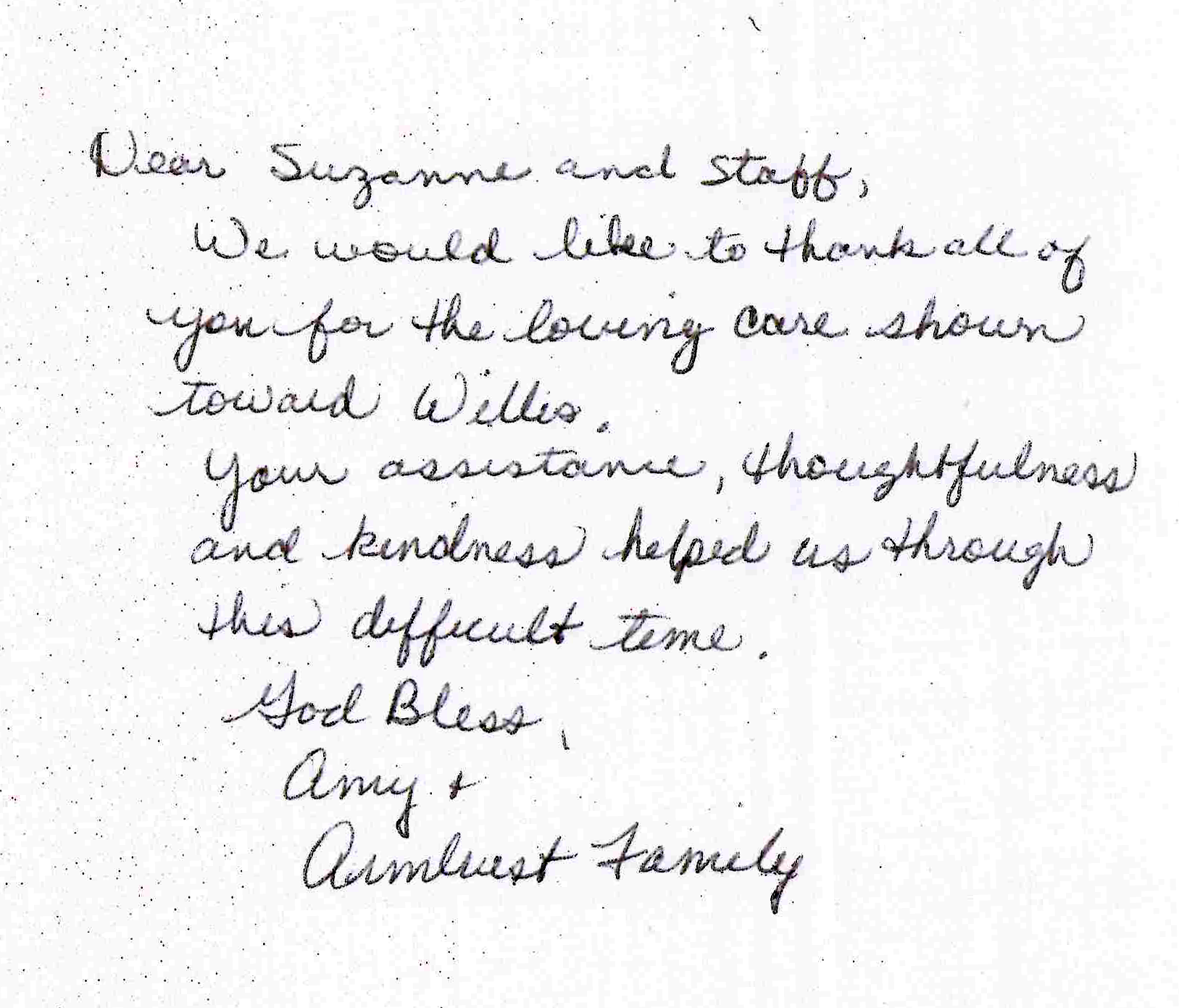 Armbrust Family Testimonial