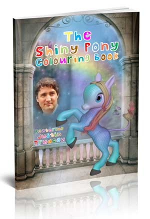 Justin Trudeau Shiny Pony Coloring Book