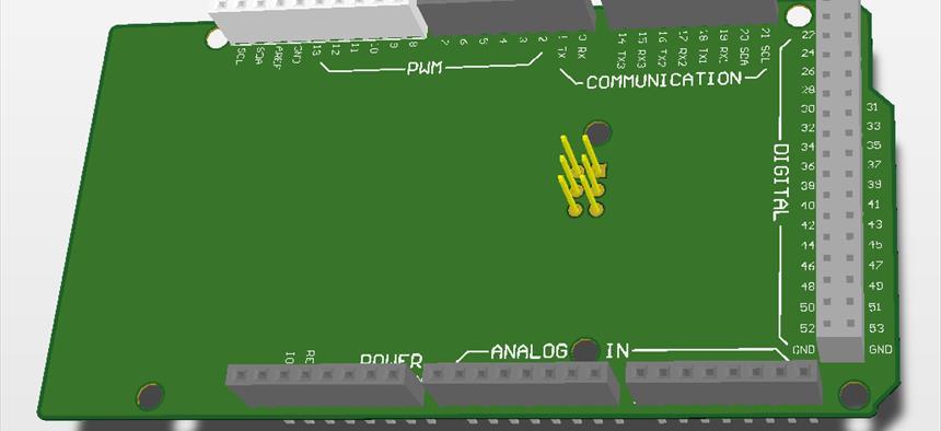 Arduino Mega Shield Template | Projects | CircuitMaker