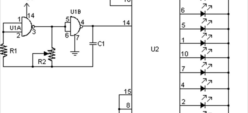 LED chaser   Projects   CircuitMaker