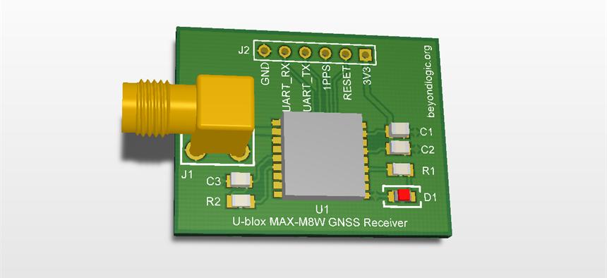 GPS Receiver U-blox MAX-M8W | Projects | CircuitMaker
