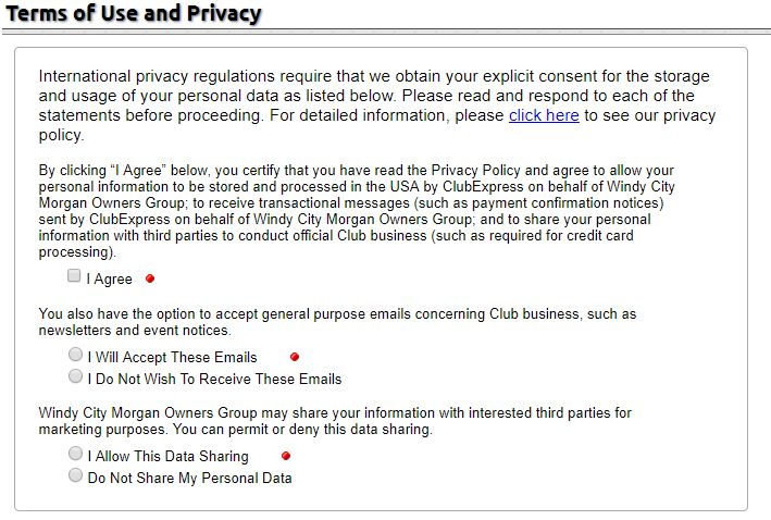 Member and Non-Member Privacy Screen