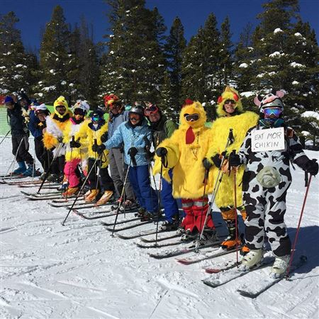 Various photos from our annual Checken Race at Breckenridge against the Schussbaumer Ski Club