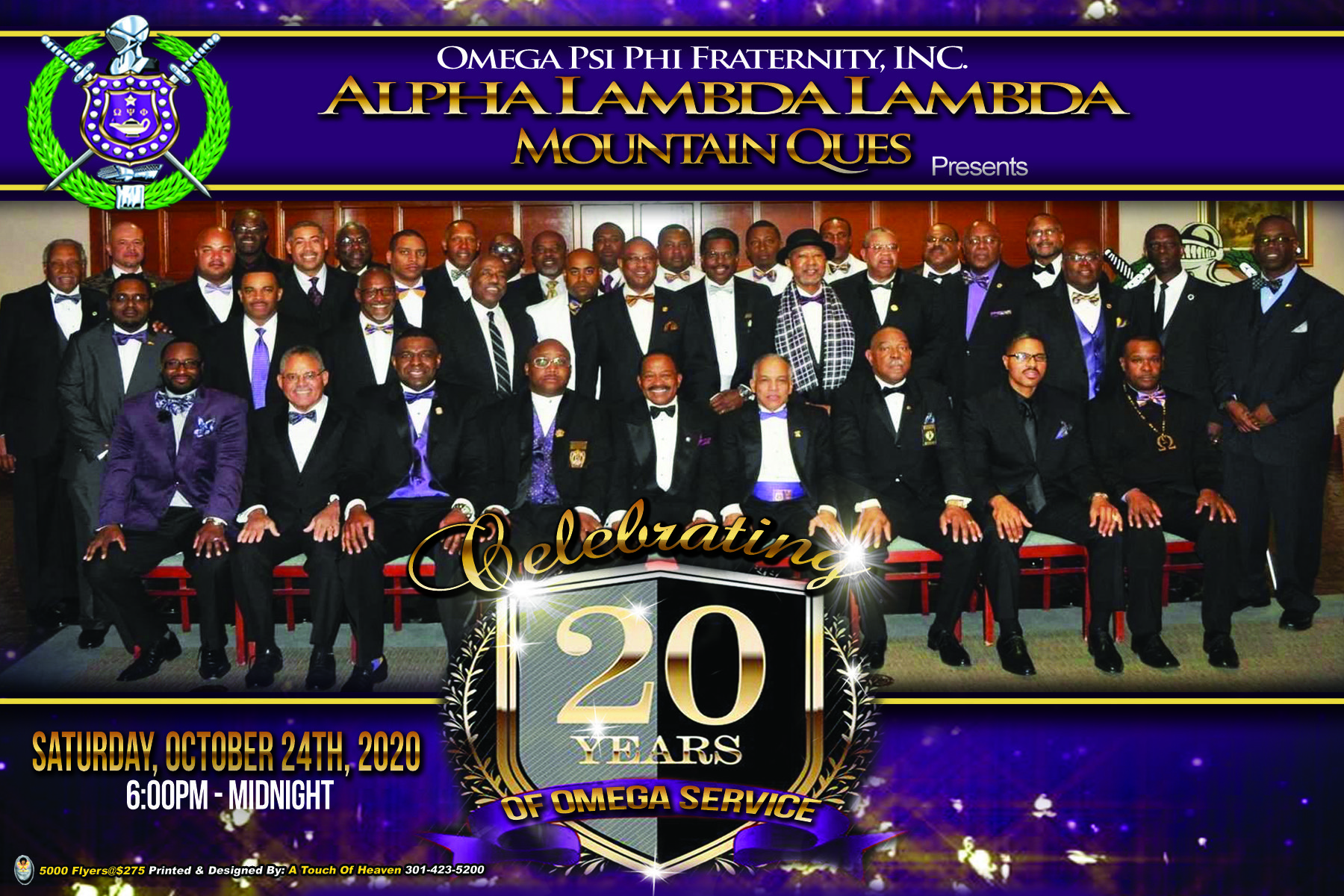 20th Anniversary Party Cover front