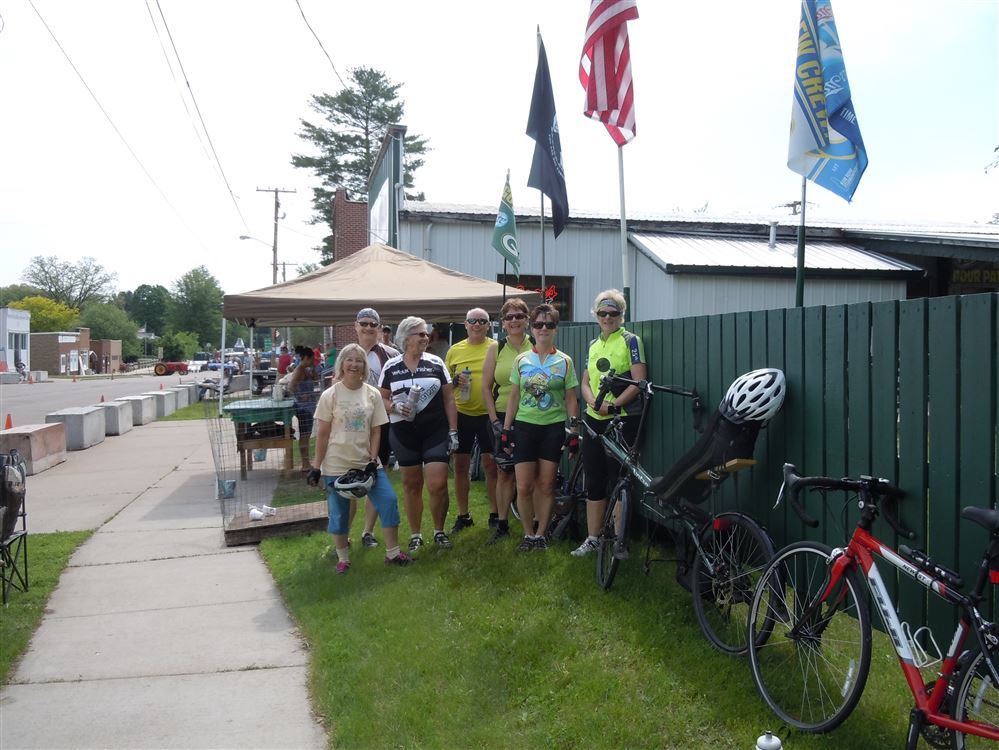 Saturday's Ride- 50 miler with lunch in Iola at the Crystal Café, plus a stop in Ogdensburg
