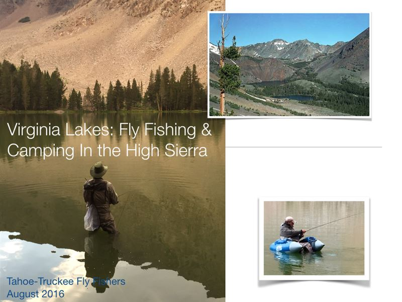 Club fishing, camping, and hiking trip to Virginia Lakes, CA August 25-28, 2016