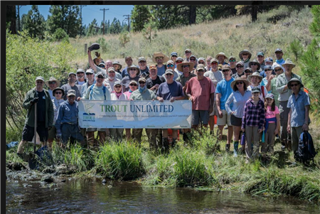 Photos from the 2016 Trout Unlimited Little Truckee Spawning Gravel Augmentation performed by Norther California and Nevada members
