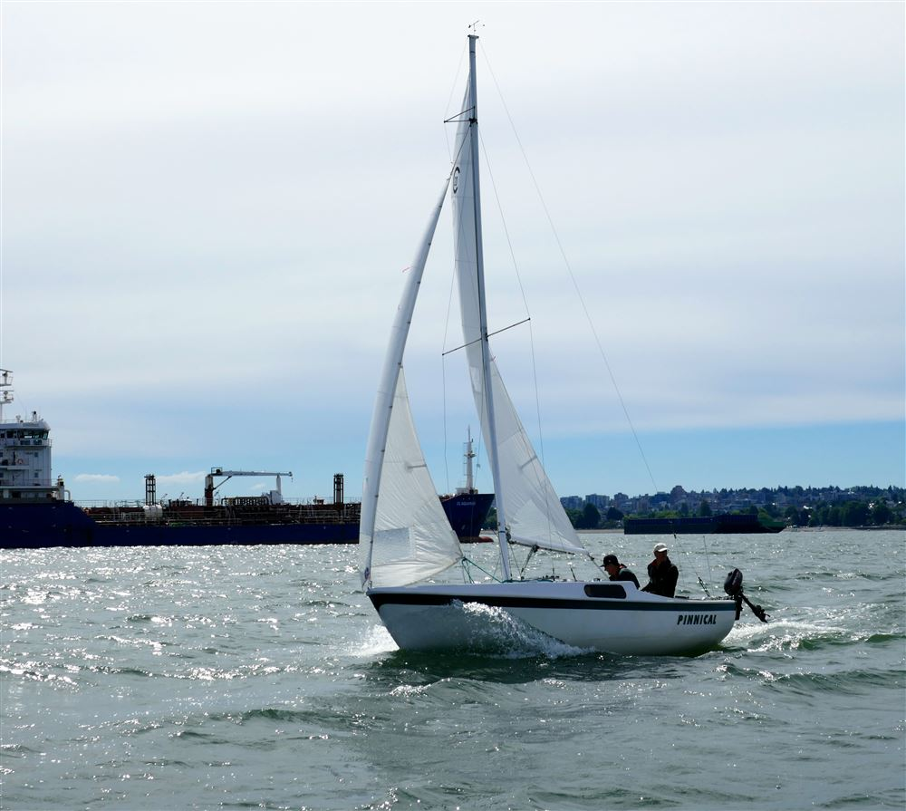 Views from the committee boat on second day of regatta, July 8, 2018