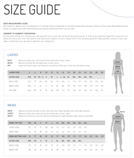 Shirt Size Guide - click to view details