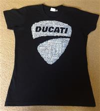 T Shirt Ladies Modern Black - click to view details