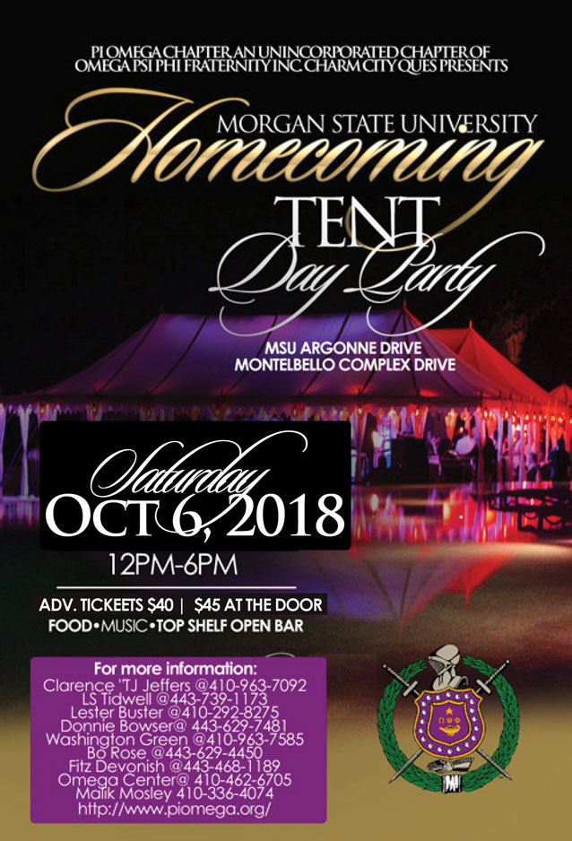 Pi Omega Tent Day Party 2018