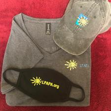 Women's Heather Grey T-Shirt, Hat & Mask - click to view details