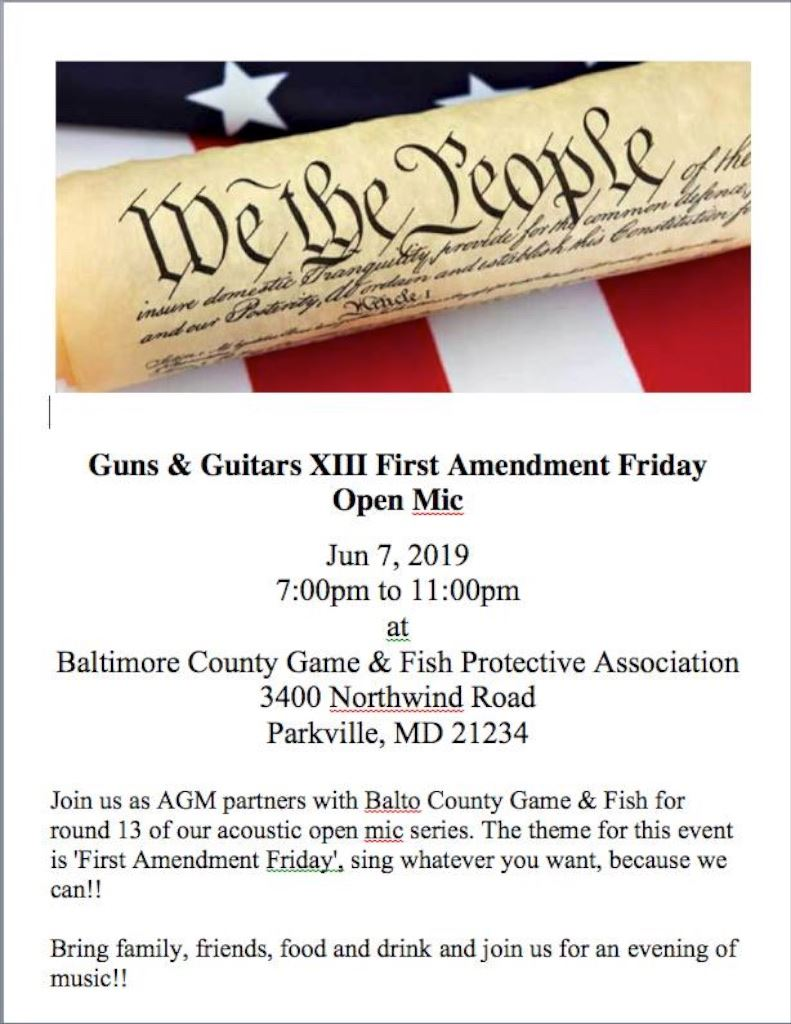 First Amendment Friday Open Mic