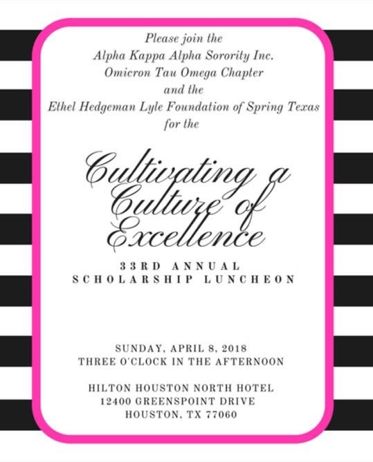 2018 Scholarship Luncheon Flyer