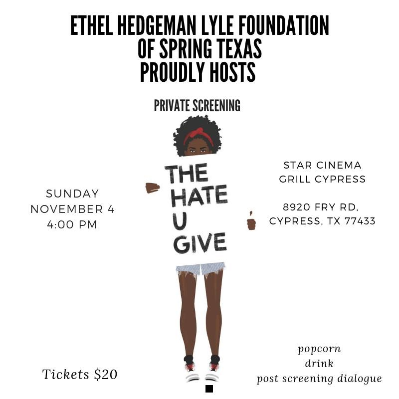 2018 The Hate U Give Flyer