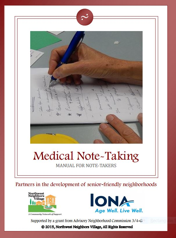 Hand of person taking medical notes