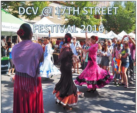 DCV hosts a table of baked goods at the annual 17th Street Festival. 8/27/2016