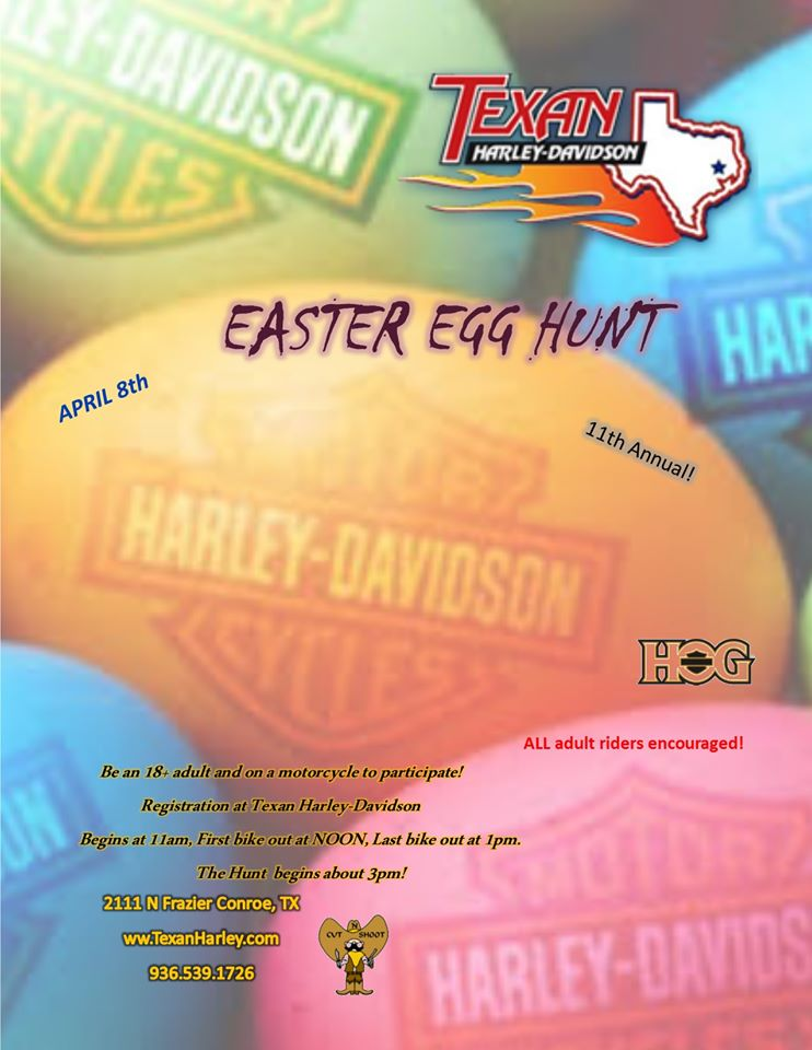 Easter Egg Hunt - Events - Cut N Shoot Harley Owners Group