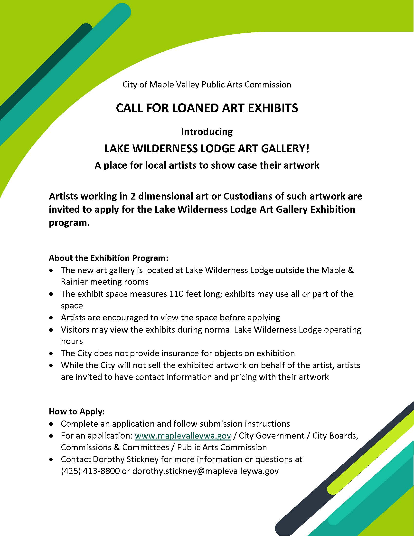 Call to Artist from City