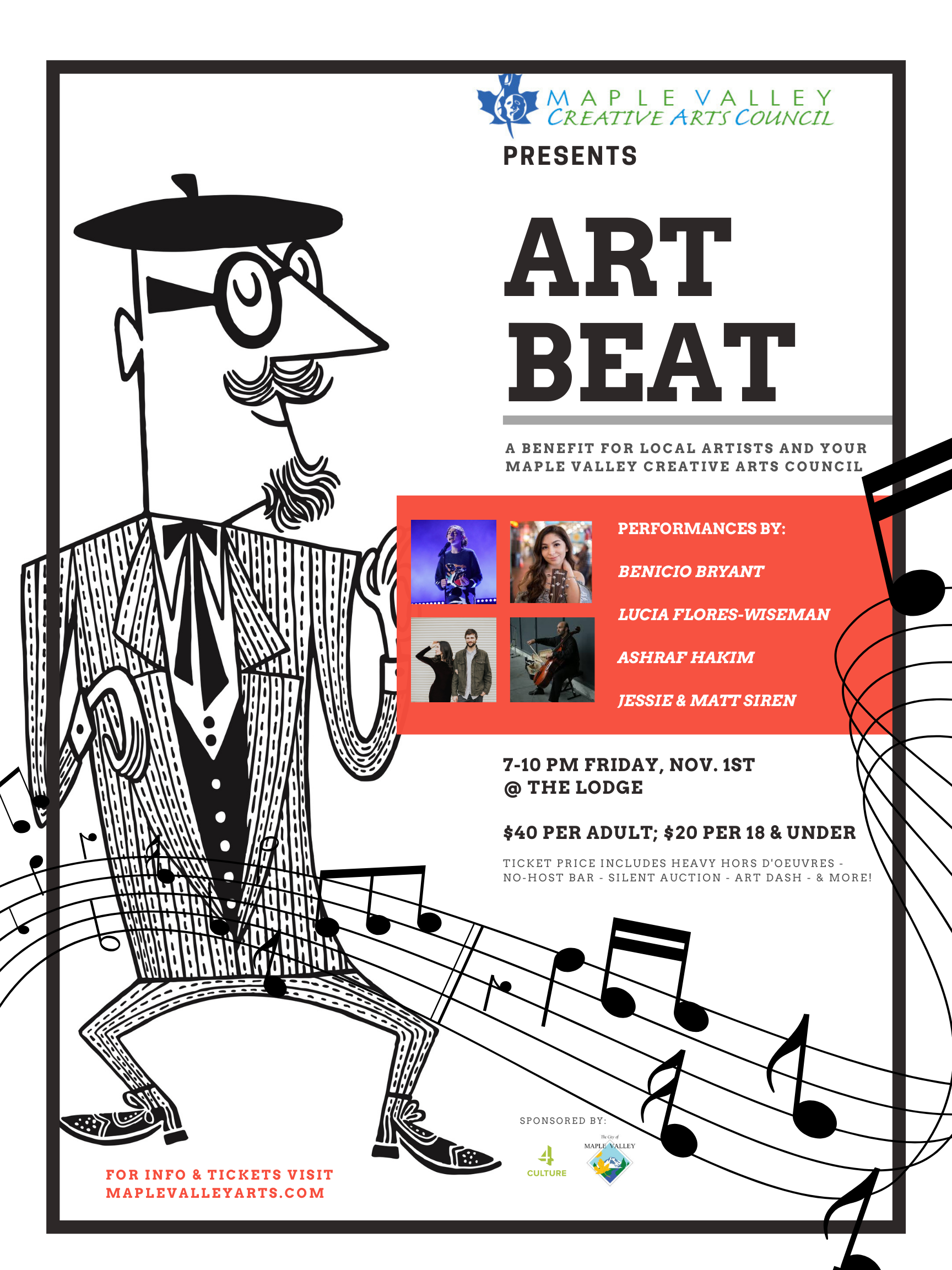 2019 Art Beat poster with pictures