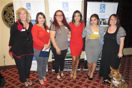 4 Valley Soroptimist Clubs award Live Your Dream Winners