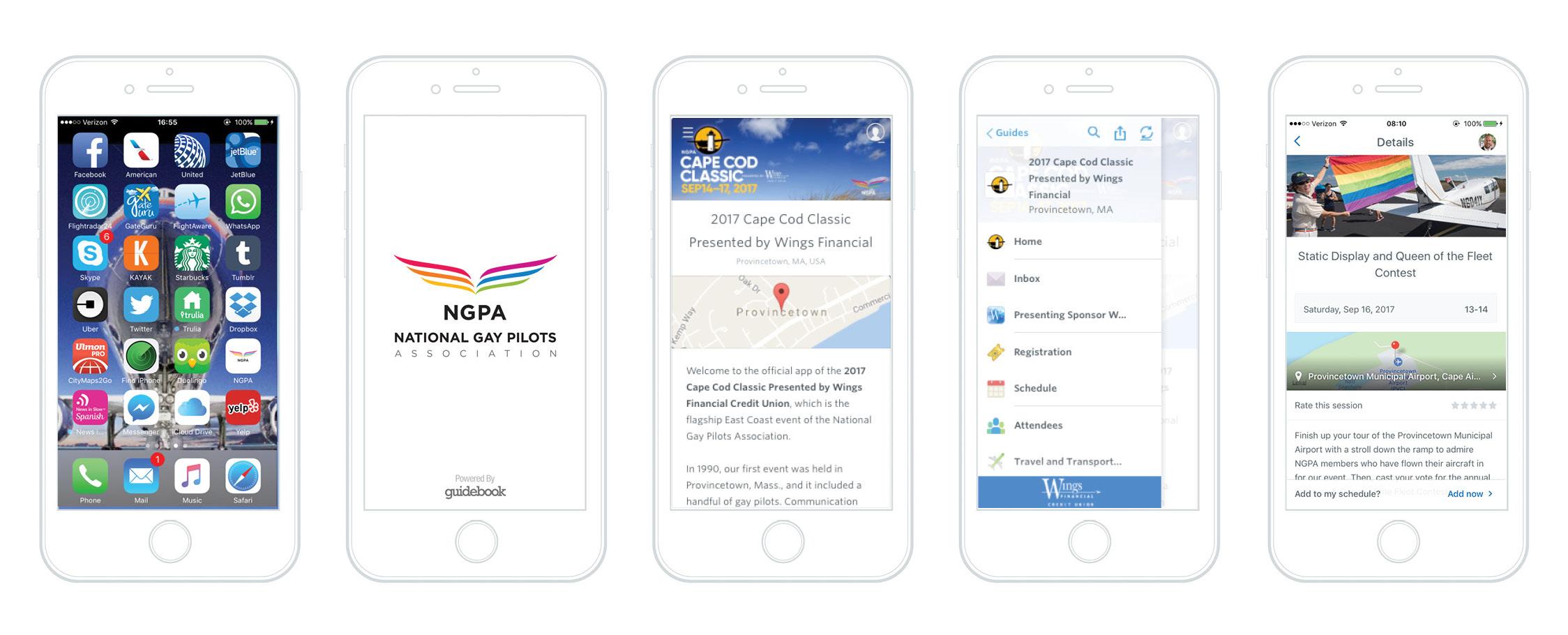 PVC guidebook app mockups