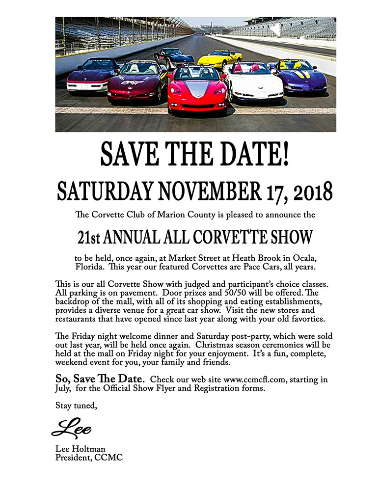 St Annual All Corvette Show Ocala FL Events Tampa Bay Vettes - Market street car show