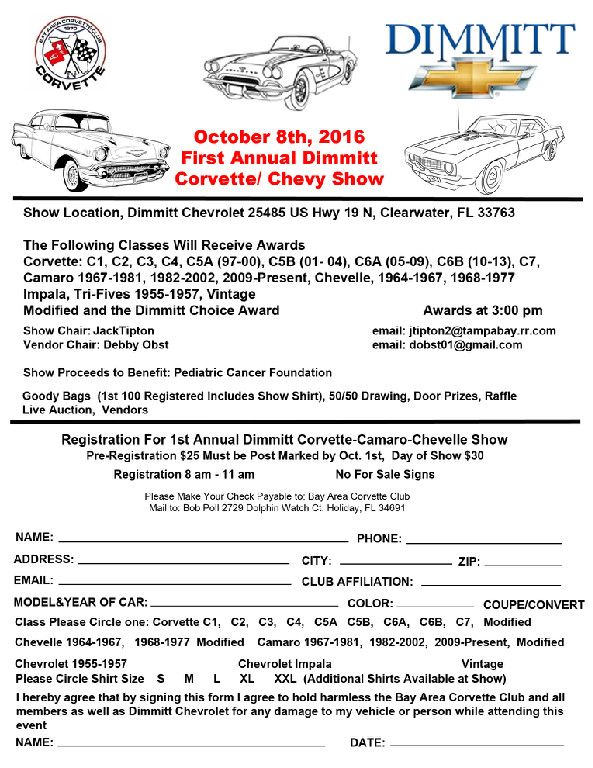 Bay Area Corvette Club CorvetteChevy Show Clearwater FL Events - Bay area car show events