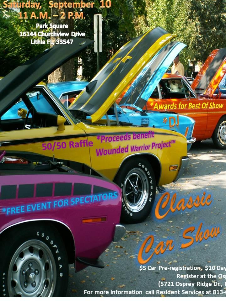 Fishhawk Ranch Classic Car Show Events Tampa Bay Vettes - September car shows