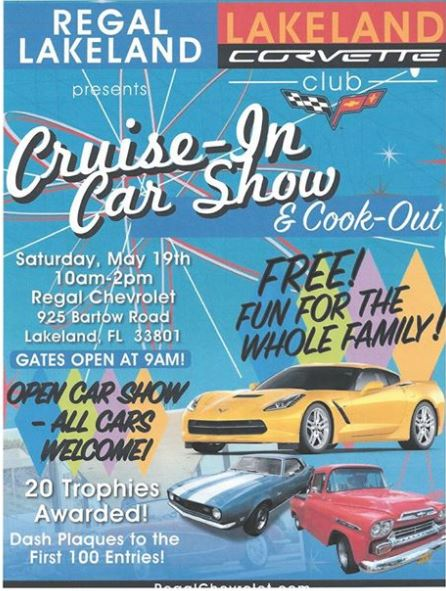CANCELLED DUE TO WEATHER CruiseIn Car Show Regal Chevrolet - Bay city car show 2018