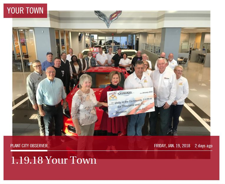 2018 Check Presentation to Unity in the Community