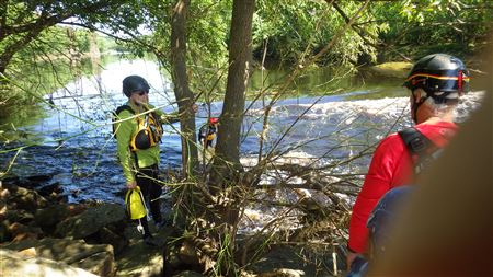 Moving Water Rescues at Kettle River, Sandstone MN