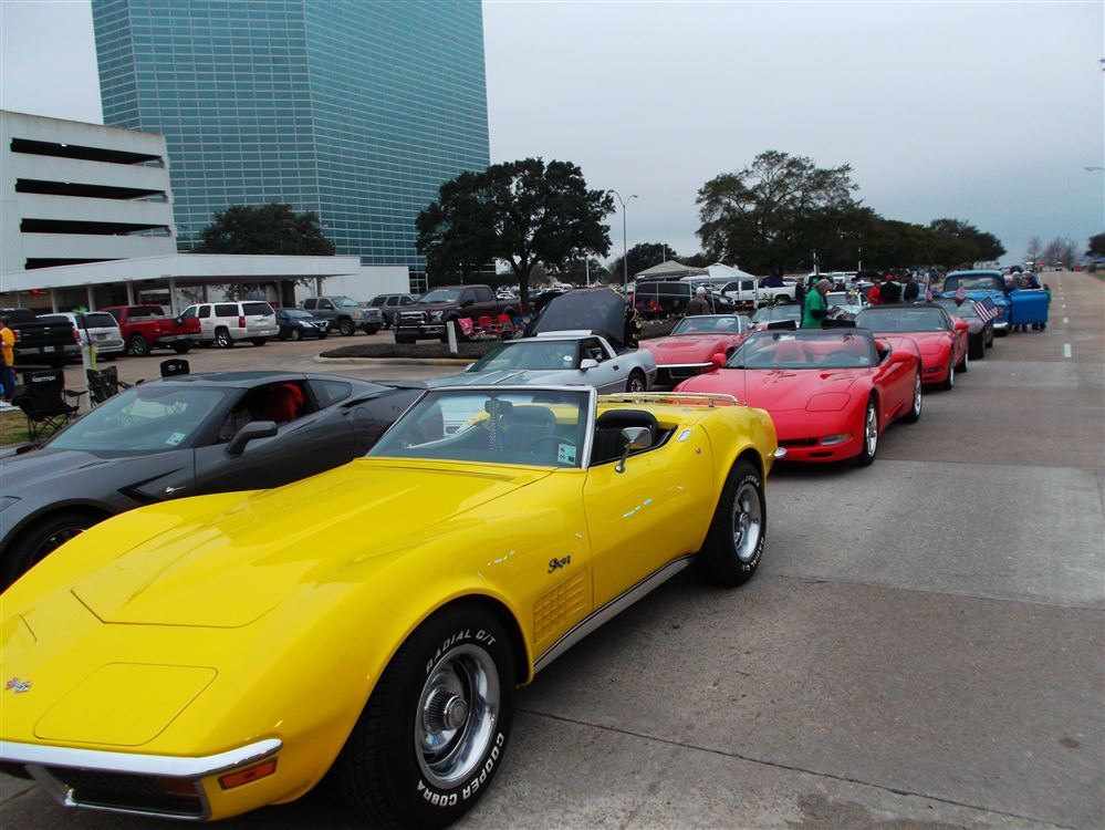 Contraband Corvette Club members joined forces with local vintage car owners and others for a wet but fun parade as part of the Mardi Gras festivities in Lake Charles.